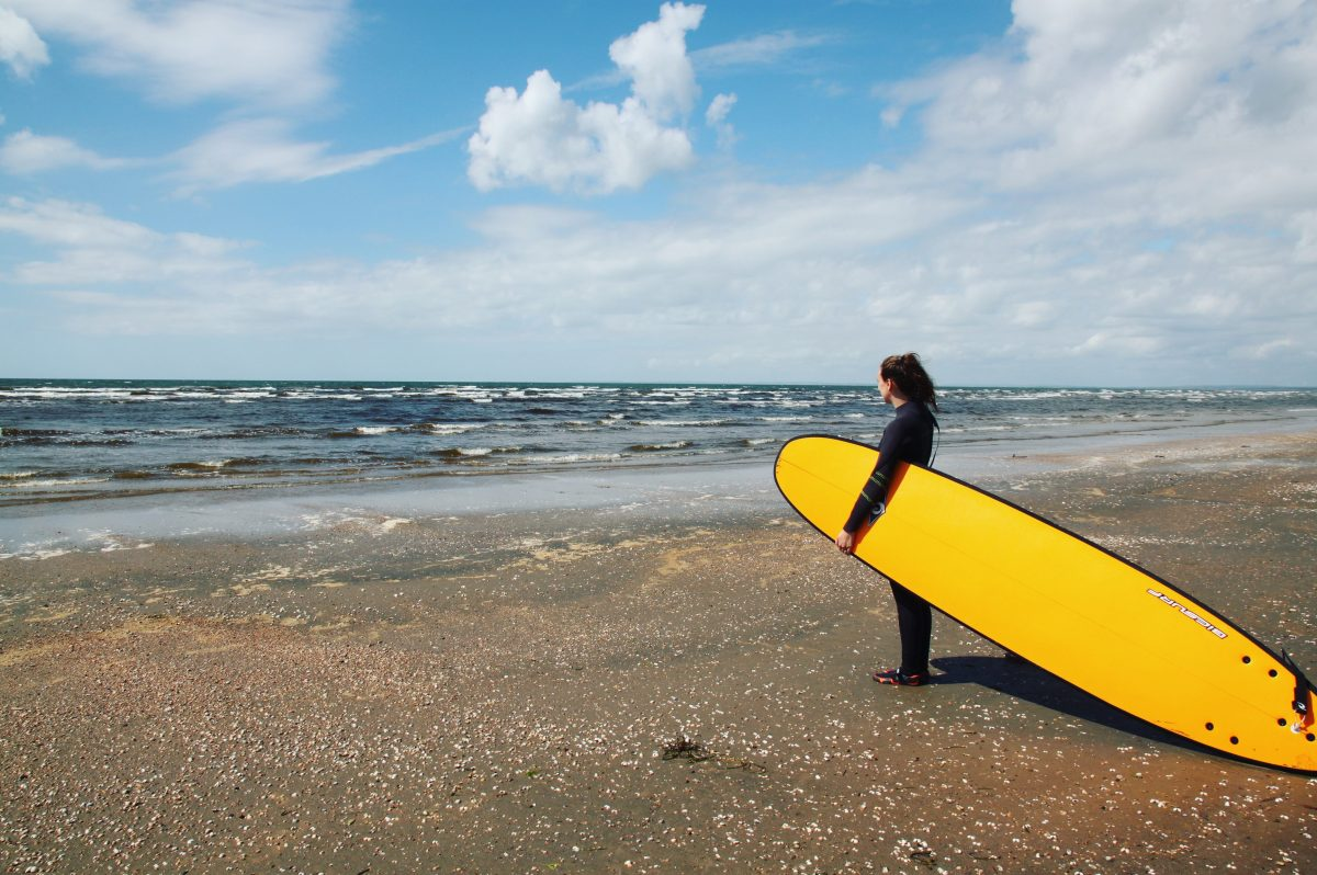 Surfing på den svenske riviera