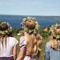 Midtsommerfeiring i Dalarna